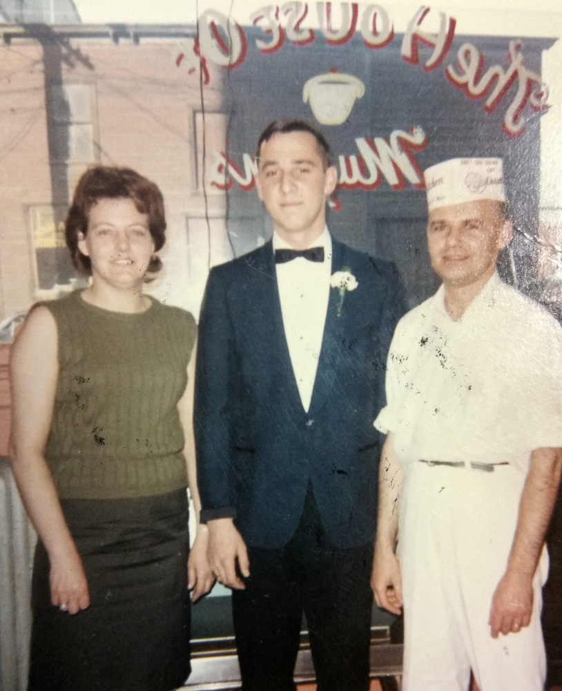 Paul LePage with Pauline and Eddie Collins on the night of his Lewiston High School Senior Prom in 1967. Courtesy of Gov. Paul LePage