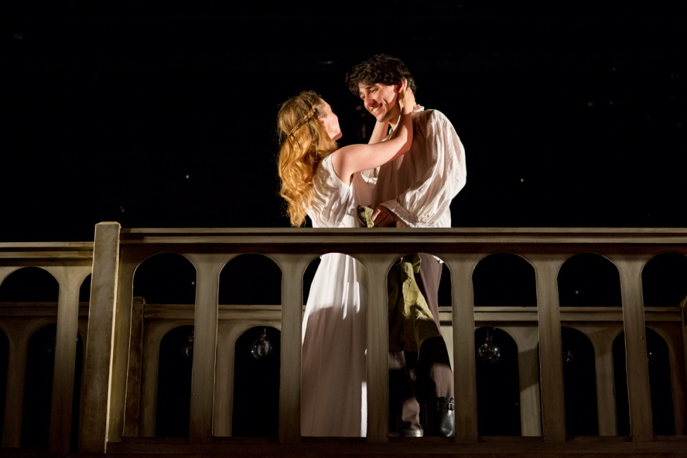 Leighton Samuels and Lindsay Tornquist star as Romeo and Juliet in the Theater at Monmouth production that runs through Aug. 24.