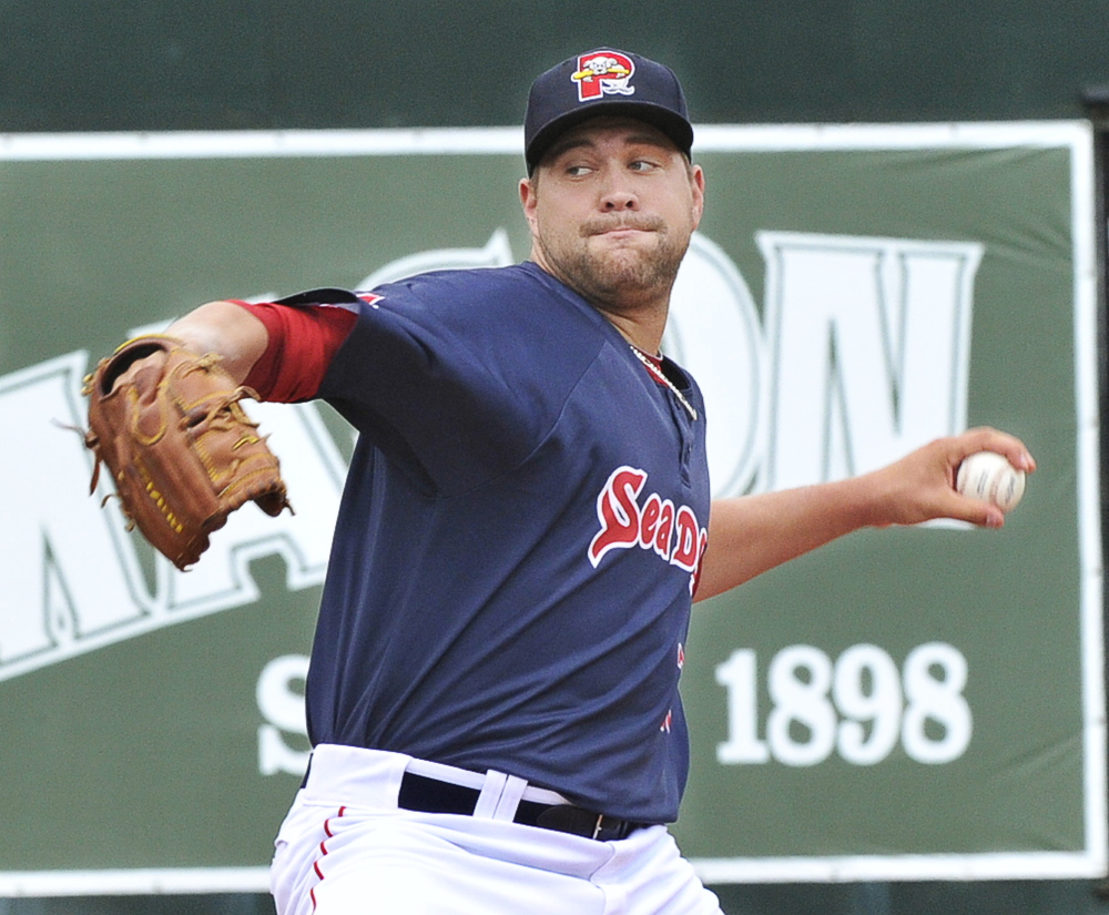 Brian Johnson may be one of those where-did-he-come-from pitchers, but not if you've been paying attention. He's coming off a big-time season in Portland. 2014 Telegram File Photo/John Ewing