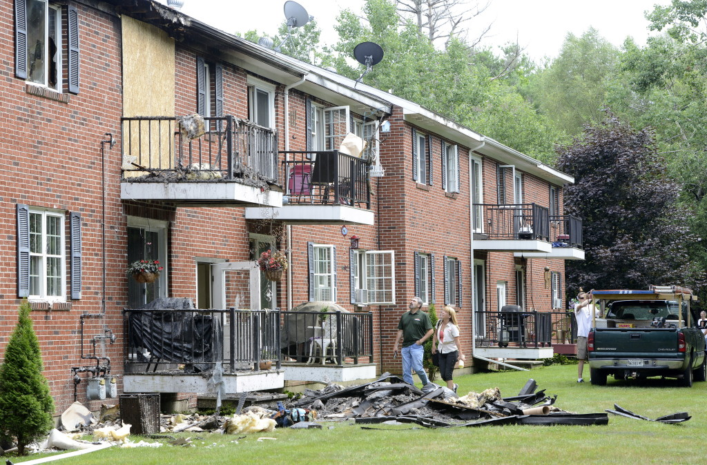 The fire Wednesday night at the Dolley Brook Condominiums in Westbrook damaged eight units so badly that they will have to be gutted and rebuilt.