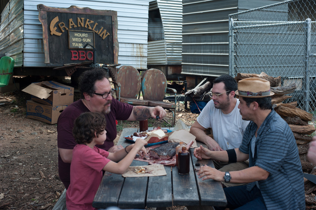 Jon Favreau, left, shadowed high profile chefs to learn every part of the business for his role in the film