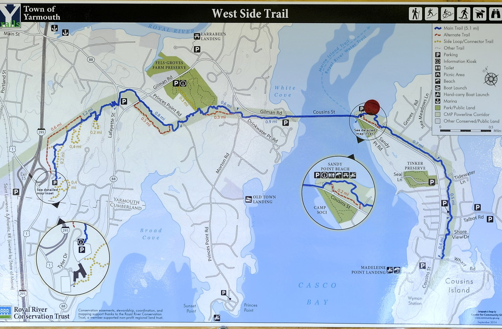 New map of the West Side Trail.