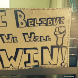This sign shows workers' sentiment in their showdown with Market Basket's corporate leadership.