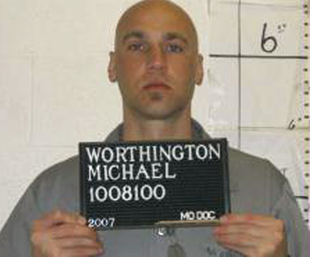 This April 4, 2007 file photo provided by the Missouri Department of Corrections shows Michael Worthington.