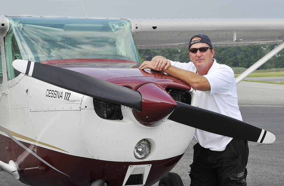 Pete Chaisson, owner of Portland Flight Services, offers aviation instruction and aircraft rental and provides flights for photographers and tourists.