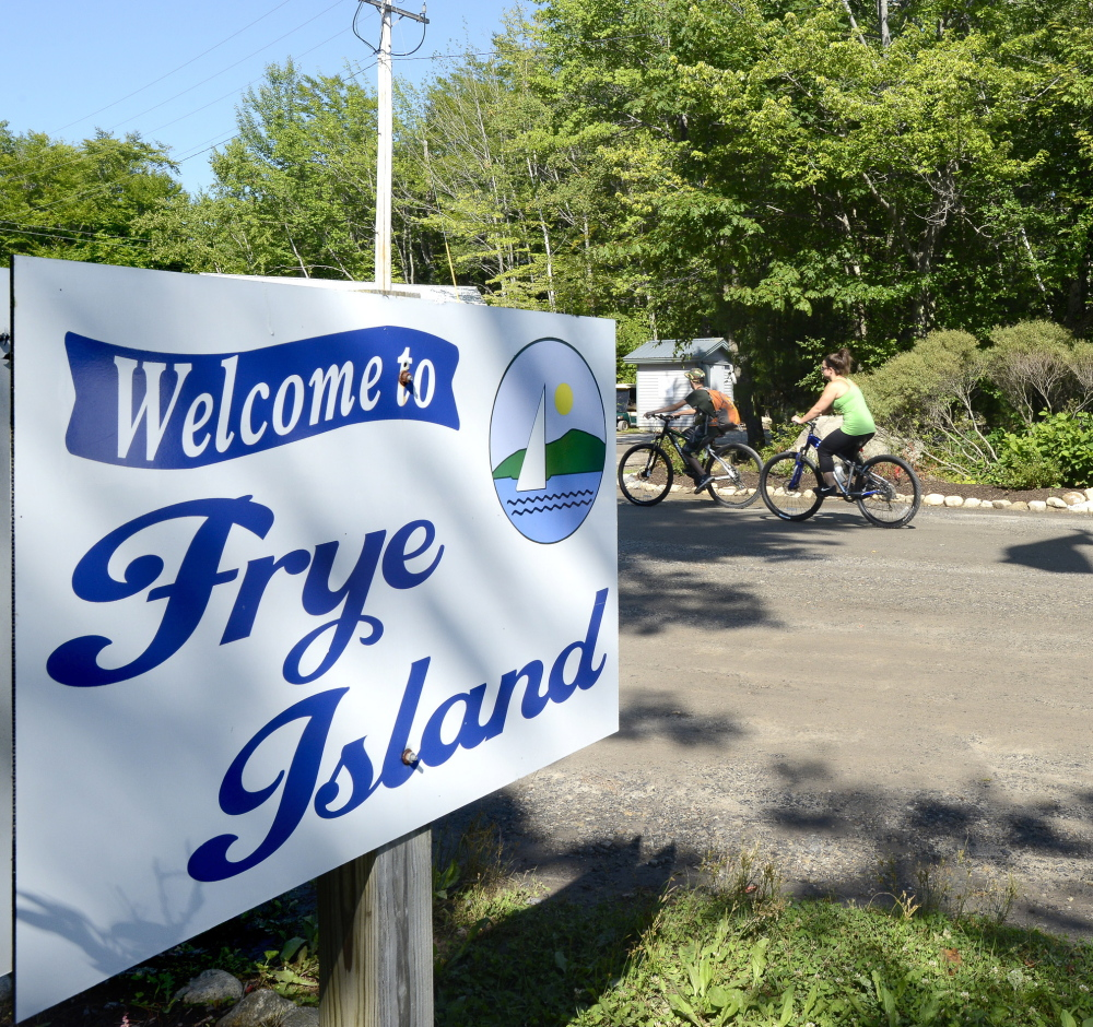 Seasonal residents and visitors find Frye Island a most welcoming place, where cars are few and bicycling is the main form of transportation along Leisure Lane, which circles the entire isle.