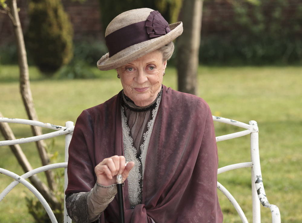"The British actress Maggie Smith plays the Dowager Countess Grantham in the PBS TV drama ""Downton Abbey."""