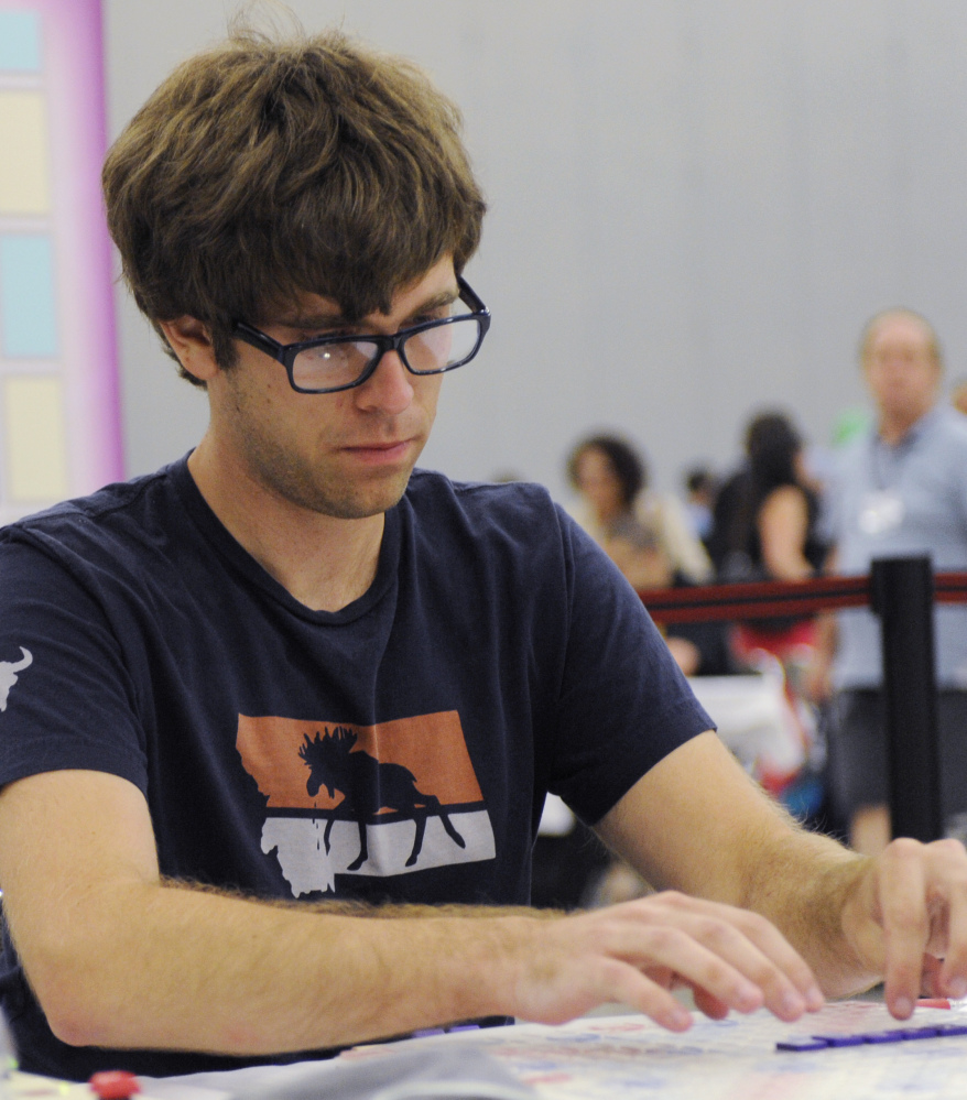"Conrad Bassett-Bouchard opens with ""zilch"" Wednesday at the 25th National Scrabble Championships in Buffalo, N.Y."