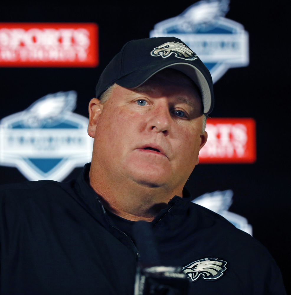Eagles Coach Chip Kelly, as his career developed in New Hampshire, became friends with other young coaches, including Mike Zamarchi, now the boys' basketball coach at Marshwood High in South Berwick. The Associated Press