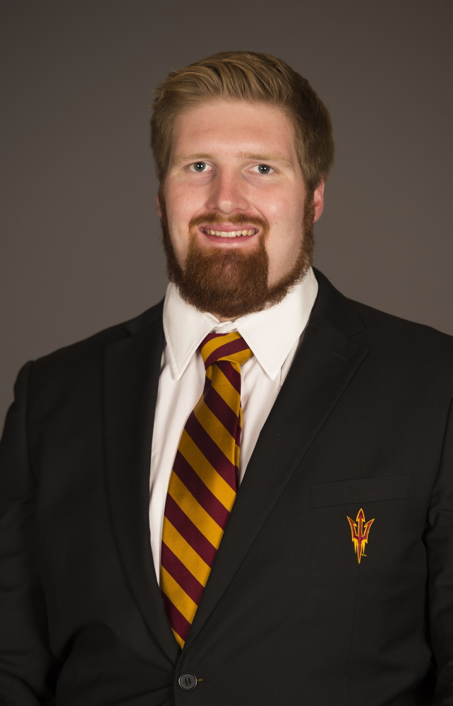 """This undated image provided by Arizona state University shows Edward """"Chip"""" Sarafin in Phoenix. Arizona State offensive lineman Sarafin has told a local magazine he is gay, making him the first active Division I football player to come out."""