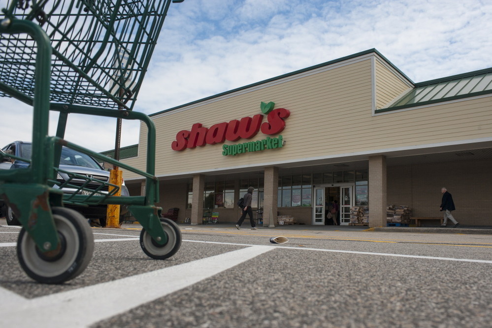 The Shaw's Supermarket on Congress Street in Portland is one of 22 in Maine. The grocery chain's tech services provider and former owner, Supervalu, reports a data breach.