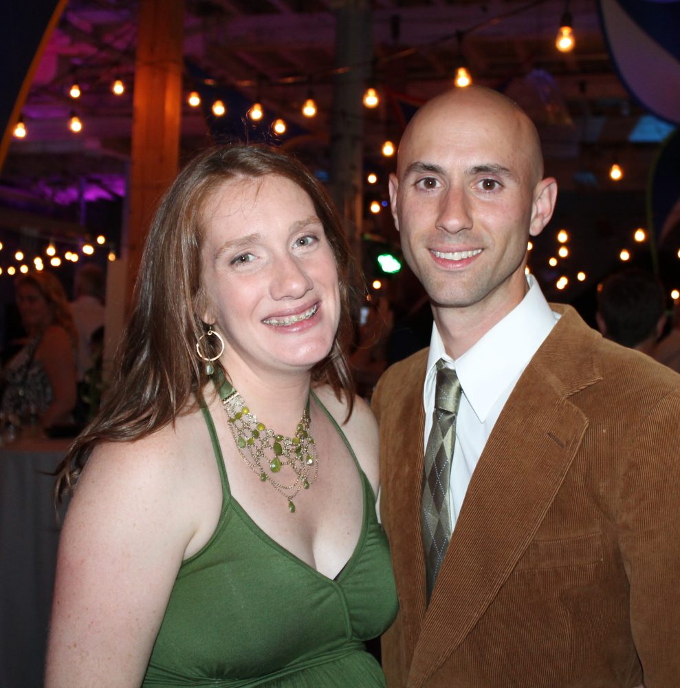 Down East magazine editor in chief Kathleen Fleury with her partner, Noah Capetta of Camden. Margaret Logan photo