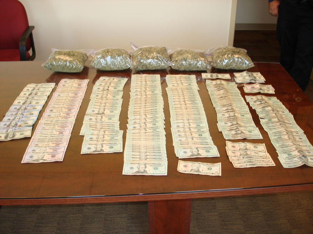 An Old Orchard Beach man faces charges of drug trafficking after a domestic dispute led police to seize seven pounds of marijuana worth more than $30,000.