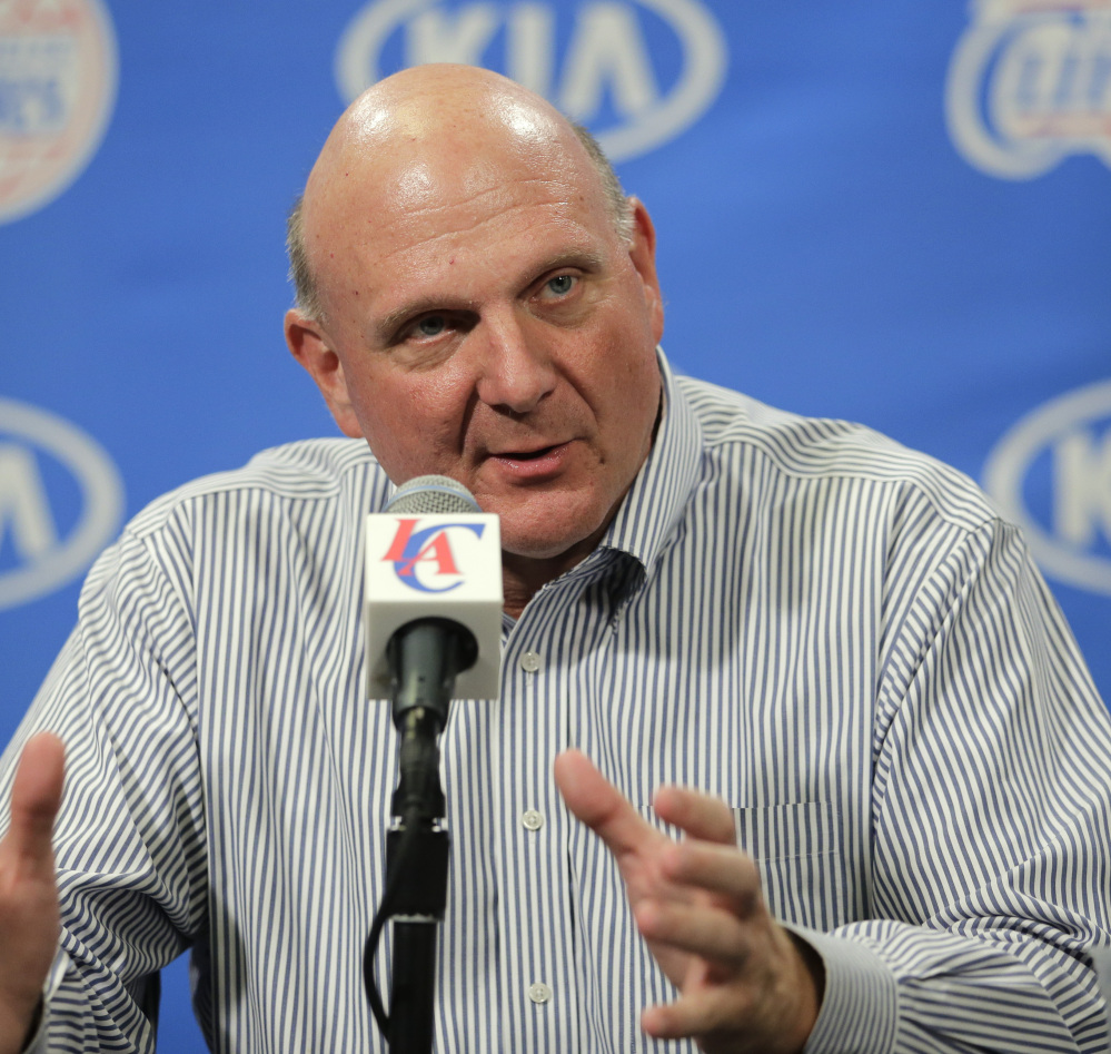 Steve Ballmer will now try to put up numbers for the L.A. Clippers.