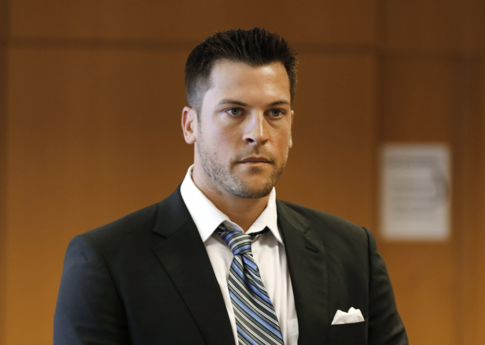 Evan Reed appears at his preliminary hearing on a sexual assault charge on Thursday in Detroit.