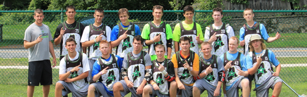 The Maineiax Black boys' team won the Sound Lacrosse Summer Classic, held July 19-20 in Fairfield, Connecticut. Team members, from left to right, with their high school in parentheses: Front row – Griffin Doree (Greely), Jack Sutton (Cheverus), Colin Harvey (Gorham), Nathan Howard (Scarborough), Ben Shea (Cape Elizabeth), Kameron Andrews (South Portland), Kevin Caldwell (Scarborough) and T-Moe Hellier (South Portland); Back row – Coach TJ Bell (Bates), Anthony Quintiliani (Scarborough), George Gilbert (Falmouth), Gabe Belisle (Greely), RJ Sarka (Cape Elizabeth), Noah Haversat (Cape Elizabeth), Andrew Kelly (Cape Elizabeth) and Curtis Knapton (Westbrook); Not pictured – Coach Sam Lane (USM), Garrett Flanagan (Yarmouth), Sam Rouda (Yarmouth), Jack Zinn (Cheverus) and Nick Mezzanoti (South Portland).