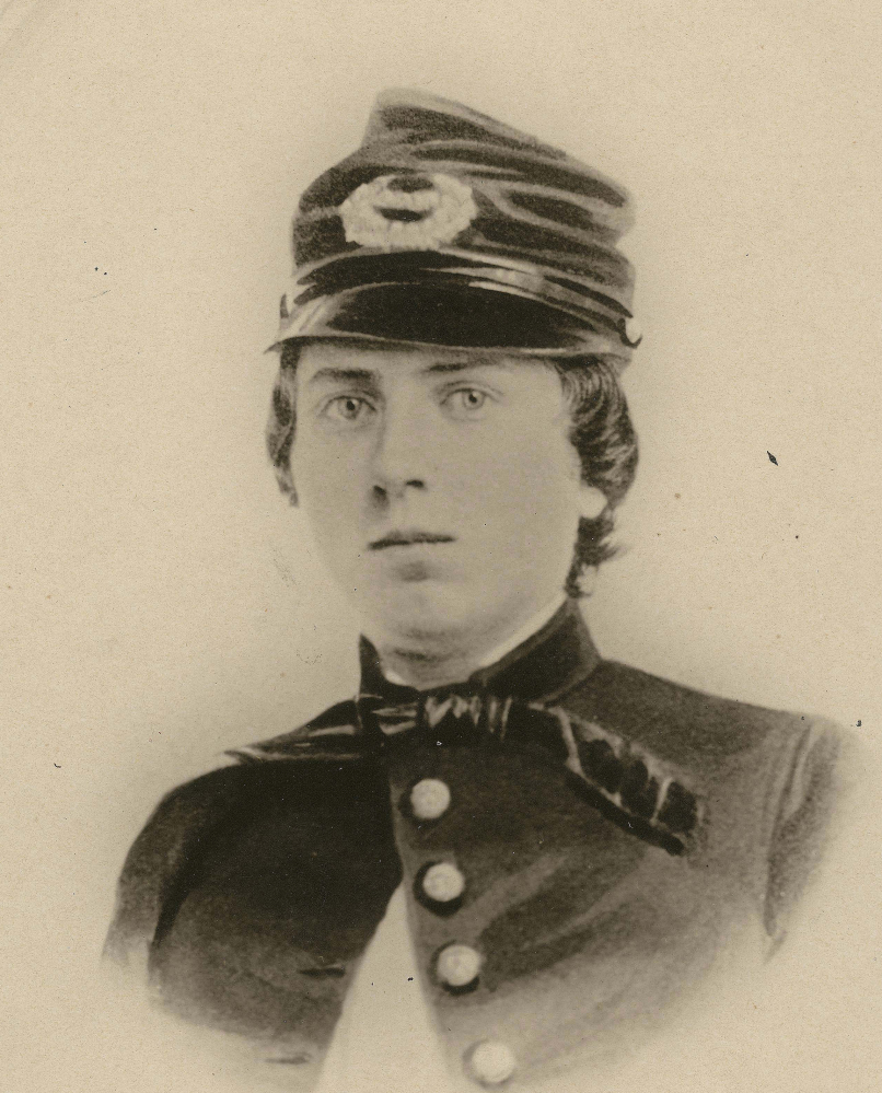 Wisconsin-born 1st Lt. Alonzo Cushing was shot in the head while defending Cemetery Ridge in 1863.