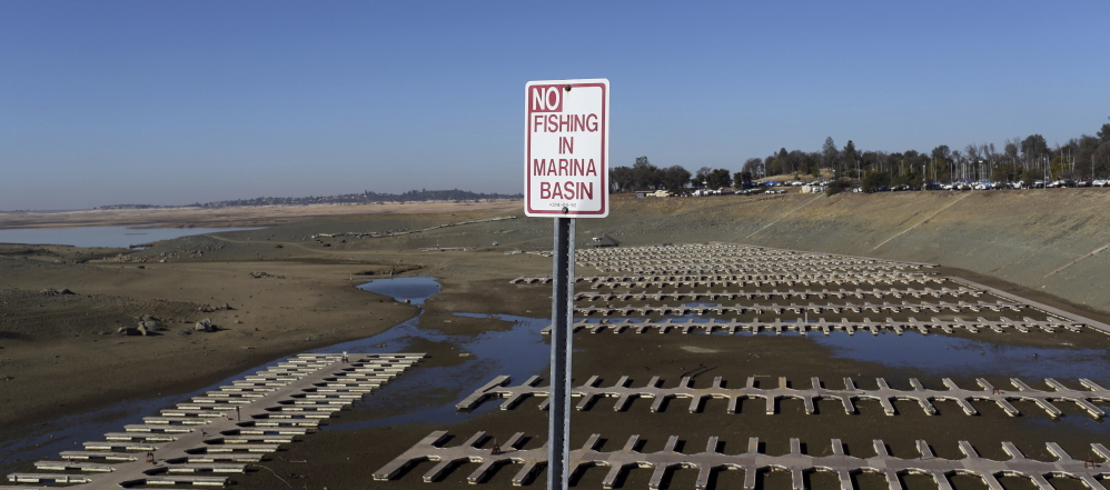 Folsom Lake in California is at 17 percent capacity.  A U.N. report in stark language paints a harsh warning of the environmental effects of global warming.