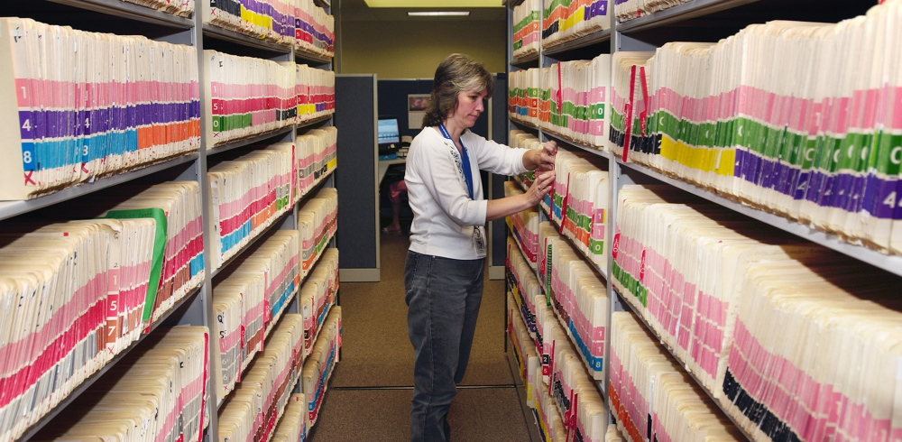 The federal government wants Maine's records to be available on a national electronic database.