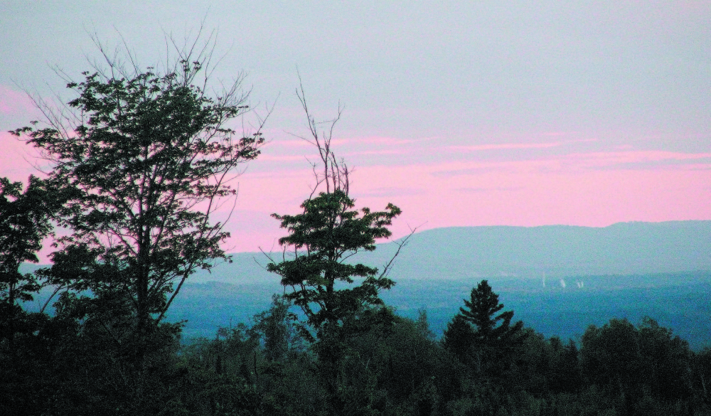 The view from Johnson Mountain in Bingham, where a wind turbine project won preliminary approval from the Department of Environmental Protection on Wednesday.