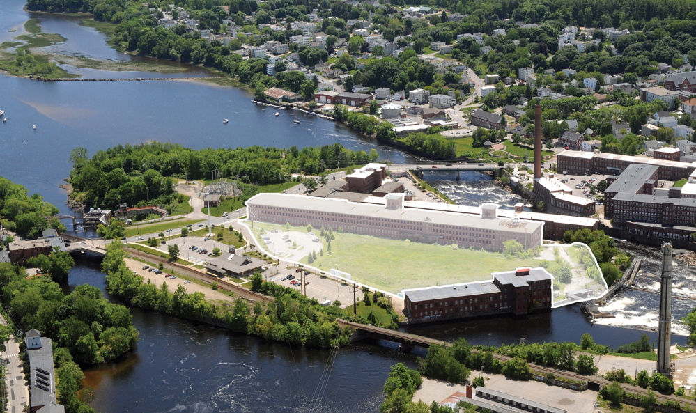 Plans are afoot to convert an empty mill building on Saco Island into housing and retail space.