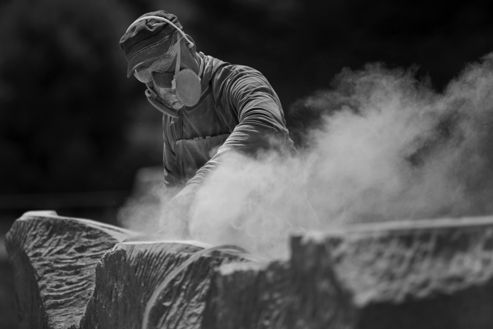 Schoodic Sculptures Rise From The Dust Portland Press Herald