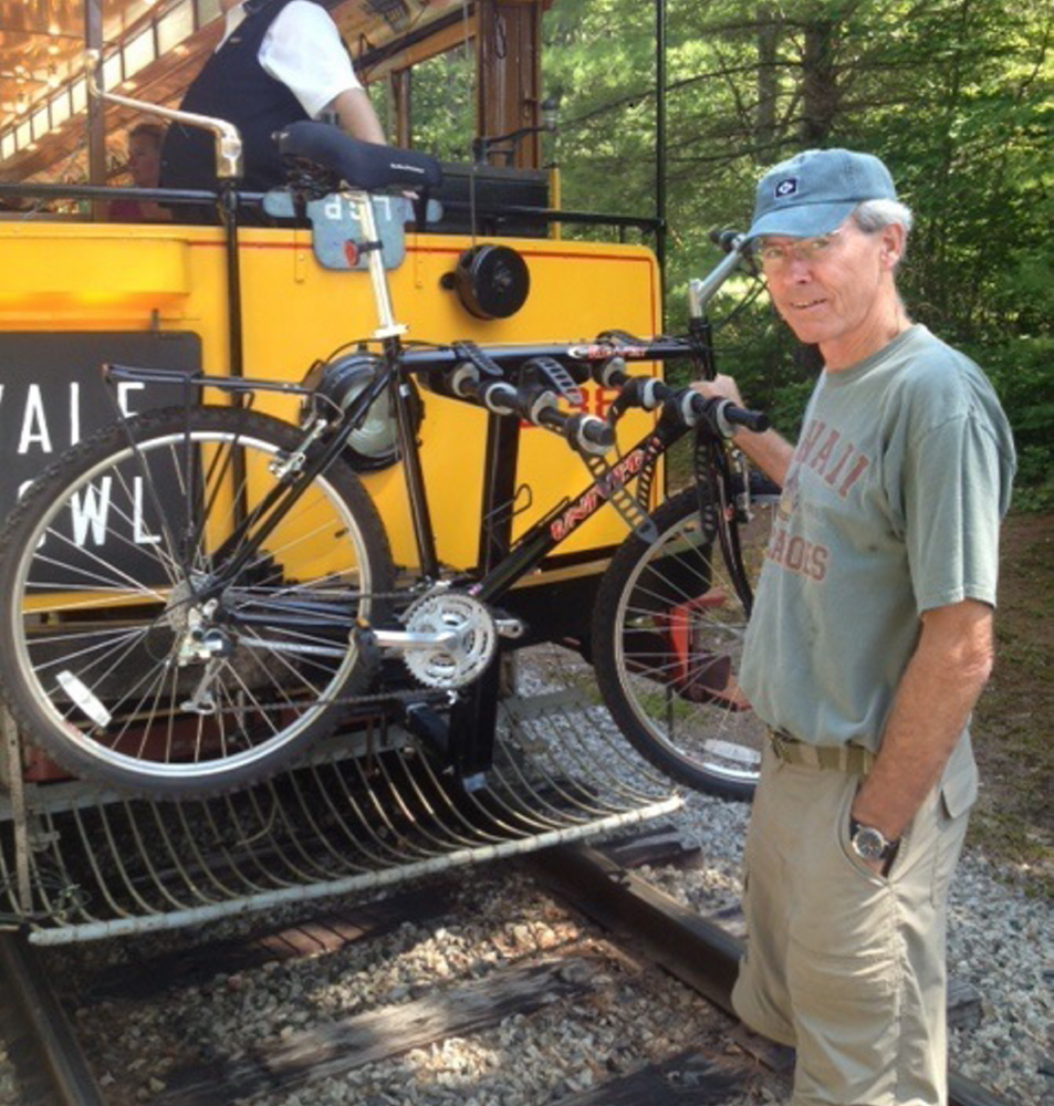 Volunteer Jim McMahon, who is semi-retired, works as a trail crew member for the Seashore Trolley Museum in Arundel as well as the Saco River Salmon Club and the Kennebunkport Conservation Trust.
