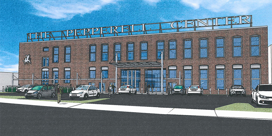 This shows what Building 13, now known as the Pepperell Center, will look like when the mixed-use development project is complete. The center is at the corner of Main and Alfred streets.