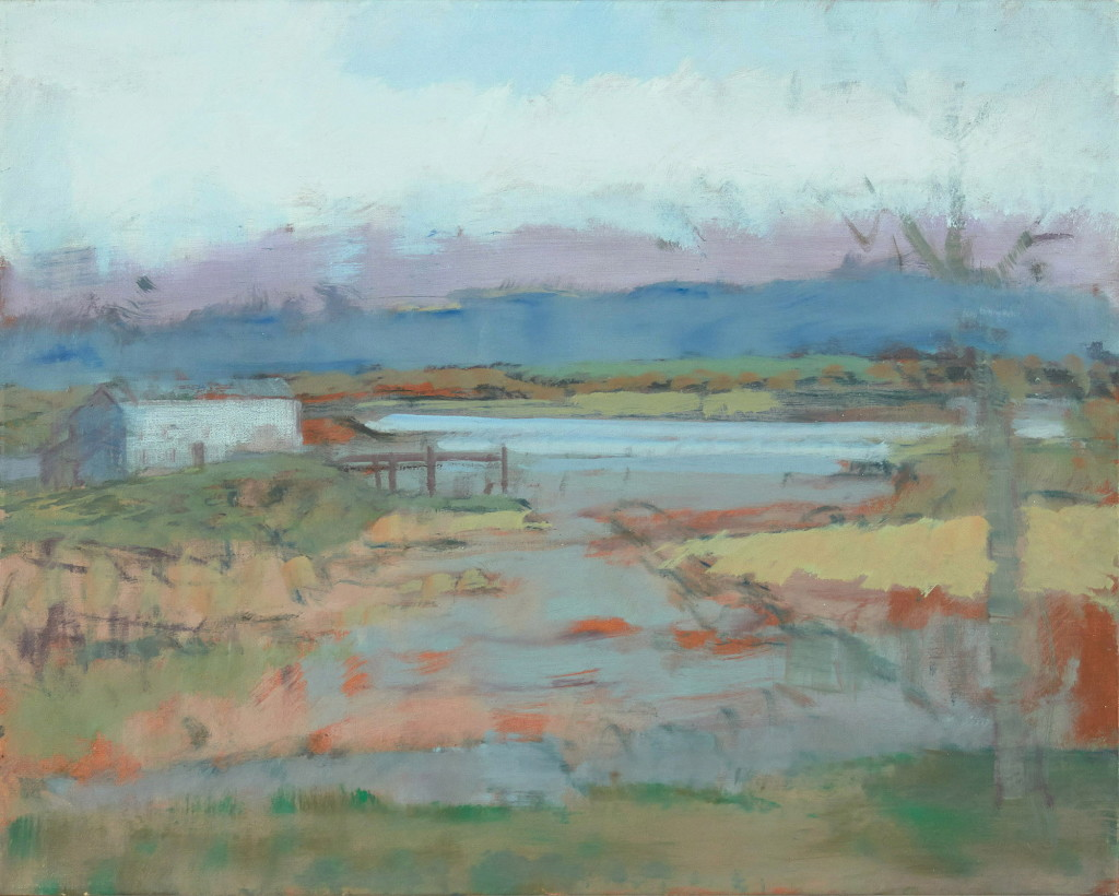 Sketch of a Foggy Inlet, 1981, oil on canvas, 16 x 20 inches