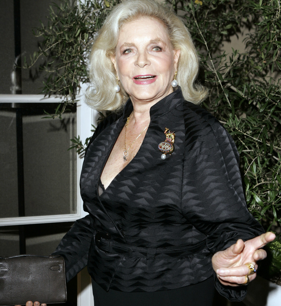 Lauren Bacall arrives at Elle magazine's 14th annual Women in Hollywood tribute in October 2007 in Los Angeles.