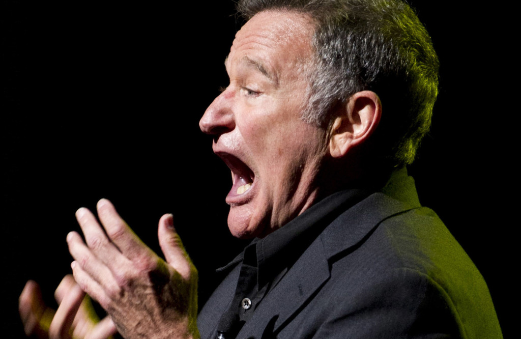 Robin Williams performs in New York at the 2012 Stand Up For Heroes benefit concert for injured service members and veterans.
