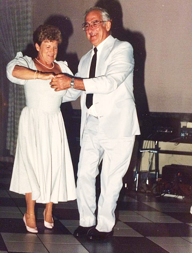 Henry Valente dances with his wife, Katherine, in the 1980s. Courtesy photo