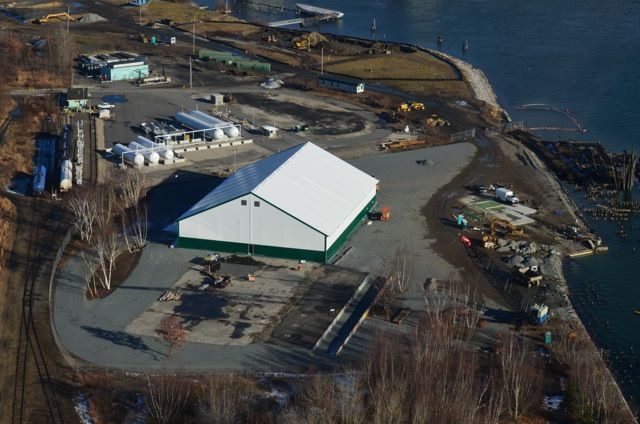 This photo provided by Portland Yacht Services shows the company's facility on West Commercial Street, where  a new 27,600-square-foot building will be constructed in the next few months.