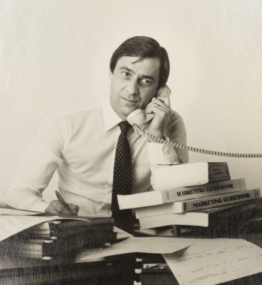 A 1983 photo shows Paul LePage as treasurer and chief financial officer at Forster Manufacturing in Wilton, a top producer of wooden toothpicks.