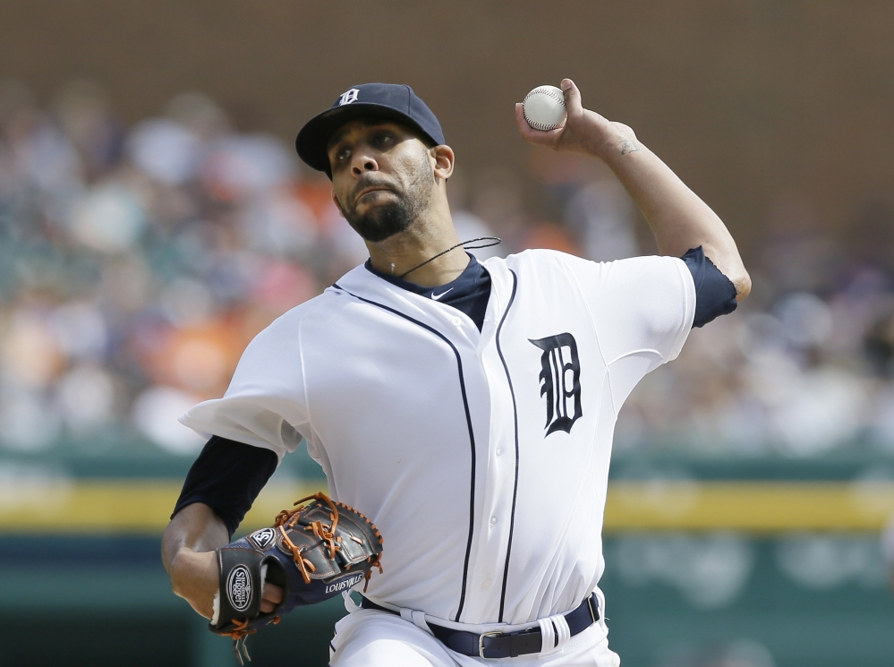 Detroit Tigers starting pitcher David Price throws during the sixth inning of Sunday's game against the Minnesota Twins. The Tigers won 3-0 to win the AL Central title.
