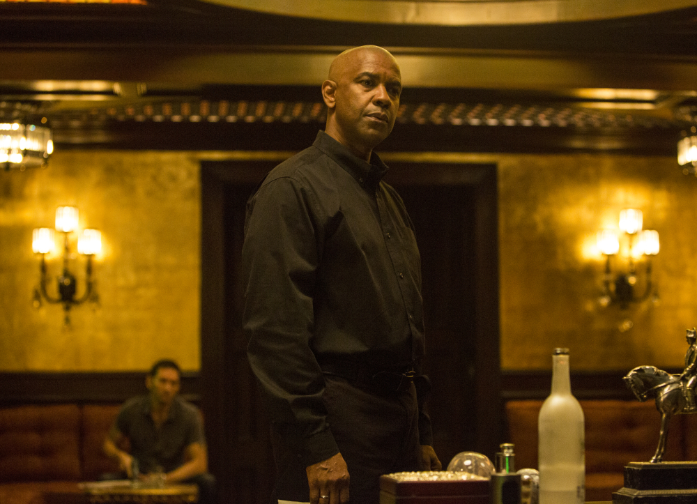 "Denzel Washington appears in a scene from the film ""The Equalizer."" The film's estimated $35 million debut is Washington's third best."