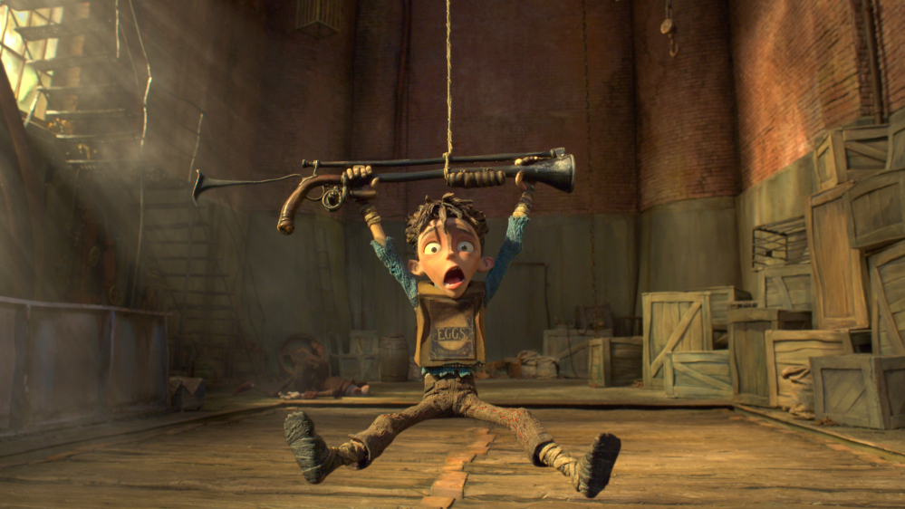 "In this image released by Focus Features, Eggs appears in a scene from ""The Boxtrolls."""