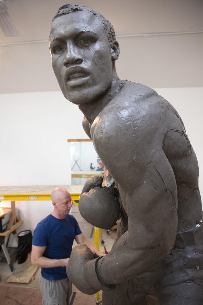 Next year, the sculpture of Frazier is expected to be placed near the city's sports stadiums, ending a hurdle-strewn saga that included fundraising problems and the death of the original sculptor.