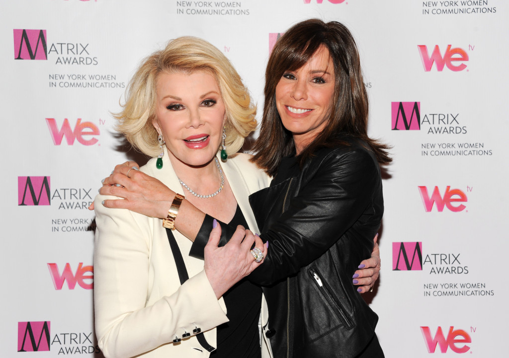 elevision personalities Joan Rivers, left, and daughter Melissa Rivers attend the 2013 Matrix New York.