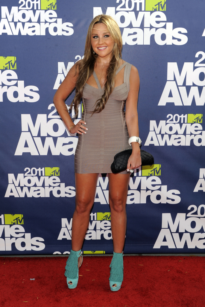 Amanda Bynes arrives at the MTV Movie Awards in Los Angeles in this 2011 file photo. The Associated Press