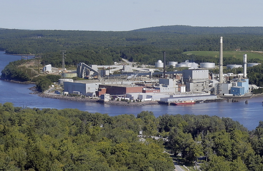two full BUCKSPORT, ME - SEPTEMBER 30: Verso Paper has announced they are closing the Bucksport paper mill, displacing 500 workers. Photo taken on August 29, 2014.
