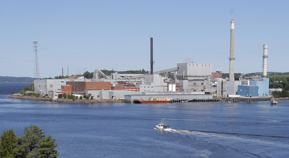 BUCKSPORT, ME - SEPTEMBER 30: Verso Paper has announced they are closing the Bucksport paper mill, displacing 500 workers. Photo taken on August 29, 2014. (Photo by Gregory Rec/Staff Photographer)