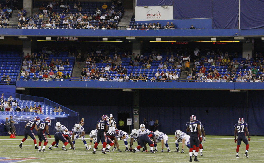The FCC will no longer support the NFL blackout rule for games that don't sell enough tickets – like this 2010 preseason match between the Buffalo Bills and the Indianapolis Colts.