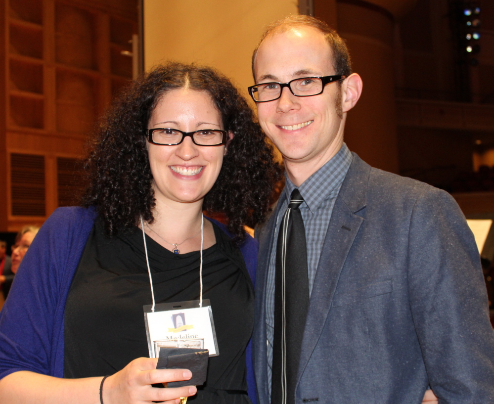 Madeline Kapp, FOKO administrative assistant, with her fiancé, Nick MacDonald, choral director at Waynflete School in Portland.