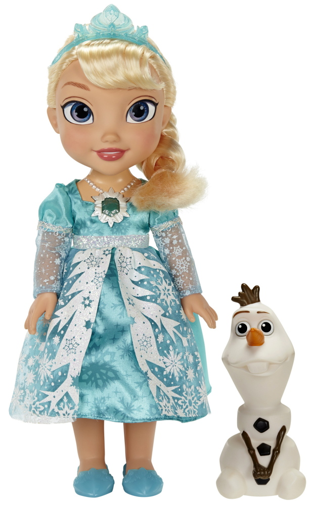 """Forecasters expect the hottest holiday toy to be the Snow Glow Elsa Doll, a 15-inch figurine of Disney's """"Frozen"""" heroine."""