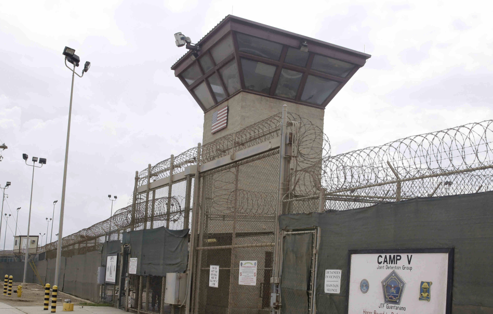 Photo taken in June shows the entrance to Camp 5 and Camp 6 at the U.S. military's Guantanamo Bay detention center at Guantanamo Bay Naval Base, Cuba.