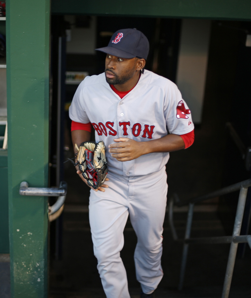 Jackie Bradley Jr. has Gold Glove potential as a center fielder but has yet to prove he can hit well enough to be an every day player for the Boston Red Sox. Bradley hit just .198 with an on-base percentage of .265.