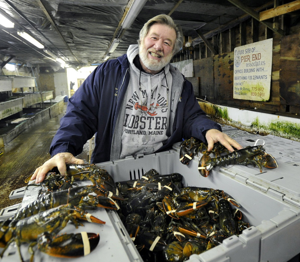 "Pete McAleney, 67, who will continue to run the lobster supply business on Portland Pier with his wife, Kathleen, says ""the timing was right"" for a sale to DiMillo's."
