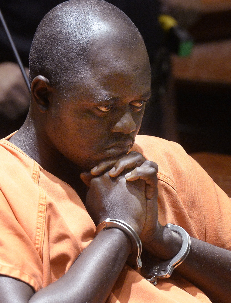 Evaristo De Deus, shown in 2014, was sentenced Tuesday to 45 years in prison for striking and killing Laudrinha Kubeloso, his pregnant former girlfriend, with his SUV in Lewiston.