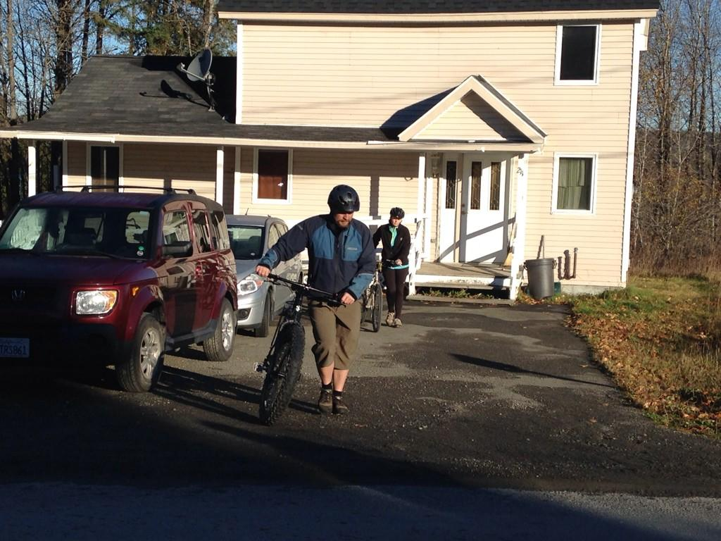 Kaci Hickox and her boyfriend,  Ted Wilbur, left their Fort Kent home Thursday morning and rode bikes to a snowmobile trail.